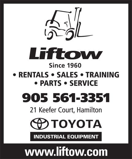 Liftow (905-561-3351) - Display Ad -
