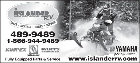 Ads Islander R V Sales & Rentals Ltd