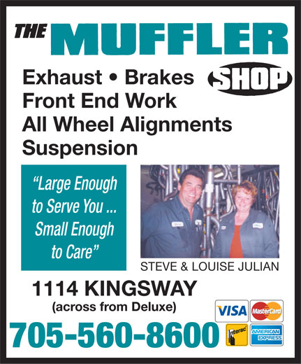 The Muffler Shop (705-560-8600) - Display Ad -