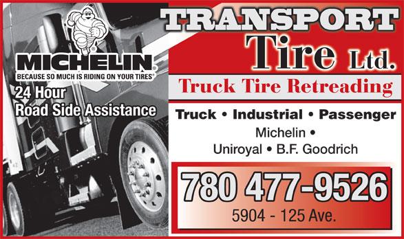 Transport Tire Ltd (780-477-9526) - Display Ad -