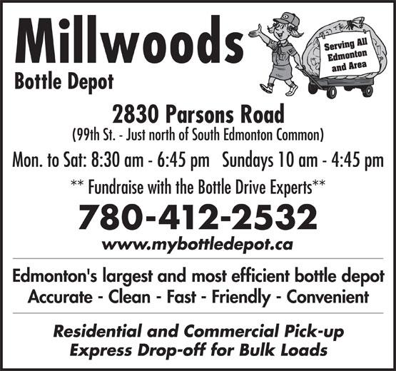 Millwoods Bottle Depot (780-944-6922) - Display Ad -