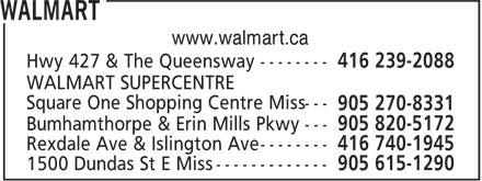 Walmart Supercentre (416-239-2088) - Annonce illustrée======= -