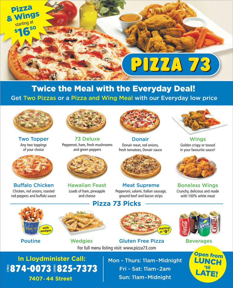 Pizza 73 (306-825-7373) - Annonce illustrée======= -