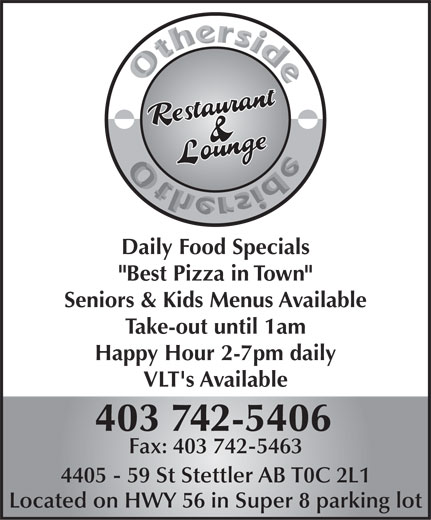 Other Side Family Restaurant & Lounge (403-742-5406) - Display Ad -