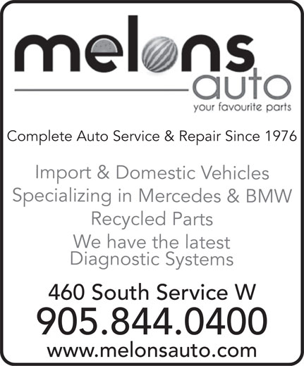 Melons Auto (905-844-0400) - Display Ad -