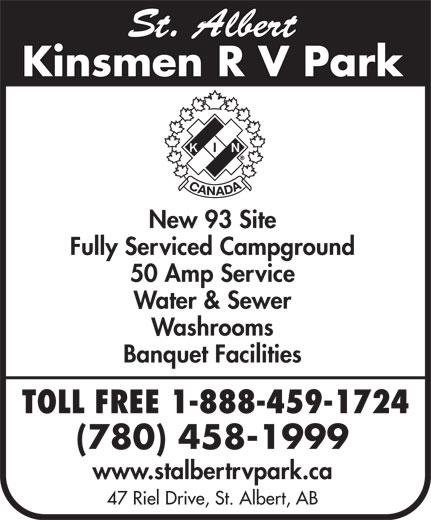 Kinsmen Club Of St Albert (780-458-1999) - Annonce illustrée======= -