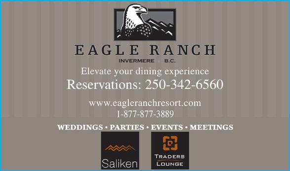 Eagle Ranch (250-342-0562) - Annonce illustrée======= -