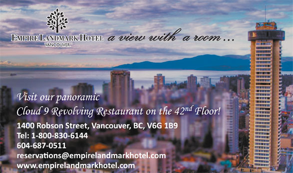Empire Landmark Hotel & Conference Centre (604-687-0511) - Display Ad -
