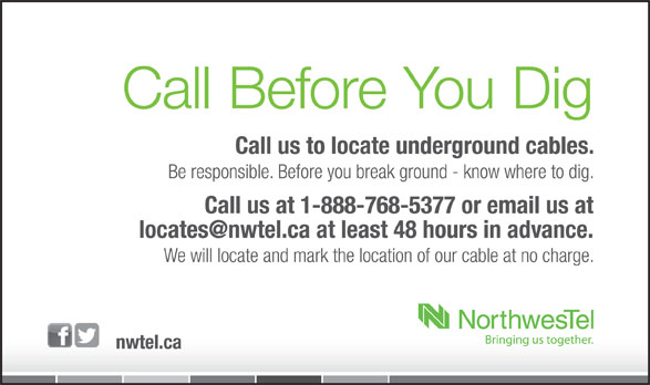 Call Before You Dig (1-888-920-3546) - Annonce illustrée======= -