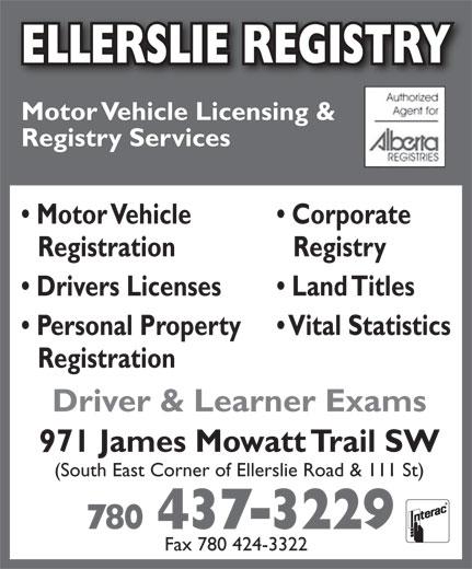 Ads Ellerslie Registry