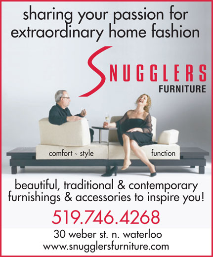 snugglers furniture 30 weber st n waterloo on the waterloo record business directory coupons