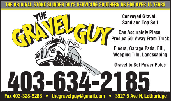 The Gravel Guy (403-634-2185) - Display Ad -