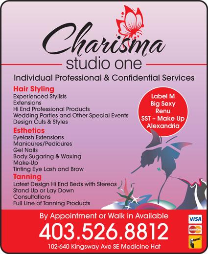 Charisma-Studio One (403-526-8812) - Annonce illustrée======= -