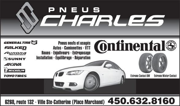 Pneus Charles (450-632-8160) - Display Ad -