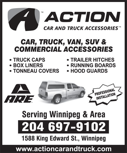 Action Car & Truck Accessories (204-697-9102) - Display Ad -