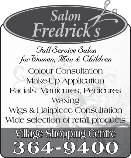 Salon Fredrick's (709-364-9400) - Display Ad -