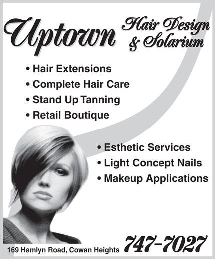 Uptown Hair Design & Solarium (709-747-7027) - Annonce illustrée======= -
