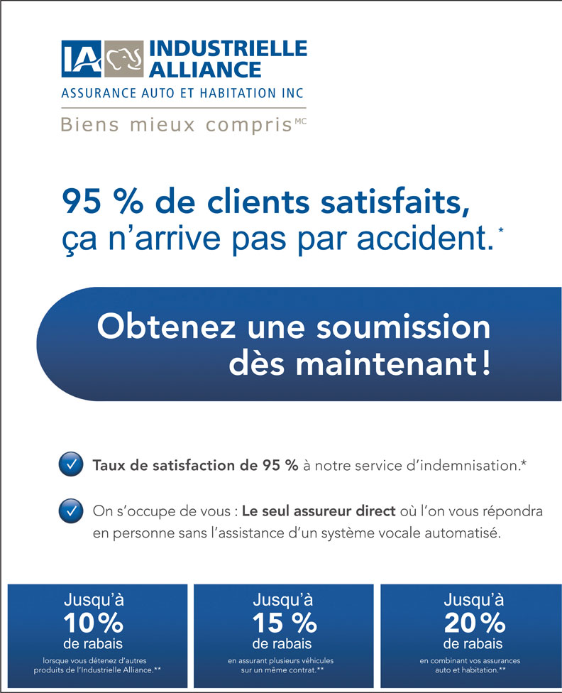 Industrielle alliance assurance auto et habitation for Assurance maison industrielle alliance