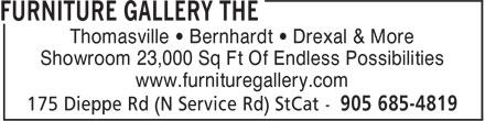 The Furniture Gallery (905-685-4819) - Annonce illustrée======= - Thomasville • Bernhardt • Drexal & More Showroom 23,000 Sq Ft Of Endless Possibilities www.furnituregallery.com  Thomasville • Bernhardt • Drexal & More Showroom 23,000 Sq Ft Of Endless Possibilities www.furnituregallery.com  Thomasville • Bernhardt • Drexal & More Showroom 23,000 Sq Ft Of Endless Possibilities www.furnituregallery.com  Thomasville • Bernhardt • Drexal & More Showroom 23,000 Sq Ft Of Endless Possibilities www.furnituregallery.com  Thomasville • Bernhardt • Drexal & More Showroom 23,000 Sq Ft Of Endless Possibilities www.furnituregallery.com
