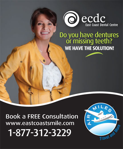 East Coast Dental Centre (1-877-312-3229) - Annonce illustrée======= -
