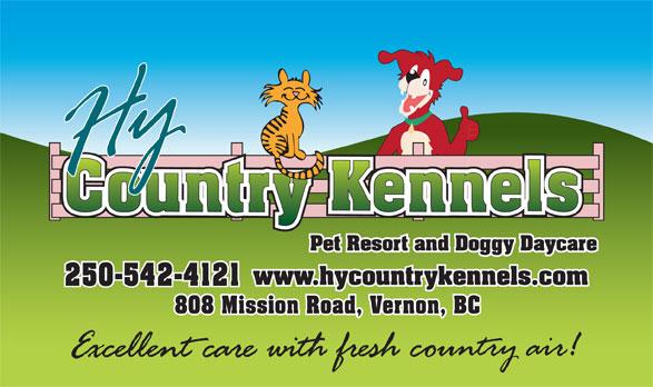 HY Country Pet Resort (250-542-4121) - Annonce illustrée======= -