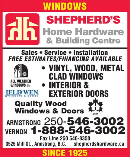 Ads Shepherd's Home Hardware Building Centre
