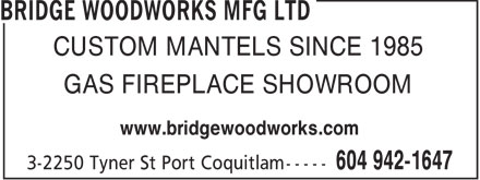 Ads Bridge Woodworks Mfg Ltd