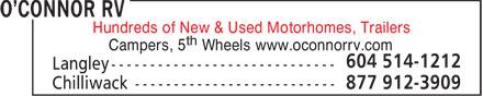 O'Connor RV (604-792-2747) - Annonce illustrée======= - Hundreds of New & Used Motorhomes, Trailers  Hundreds of New & Used Motorhomes, Trailers  Hundreds of New & Used Motorhomes, Trailers  Hundreds of New & Used Motorhomes, Trailers  Hundreds of New & Used Motorhomes, Trailers  Hundreds of New & Used Motorhomes, Trailers  Hundreds of New & Used Motorhomes, Trailers  Hundreds of New & Used Motorhomes, Trailers