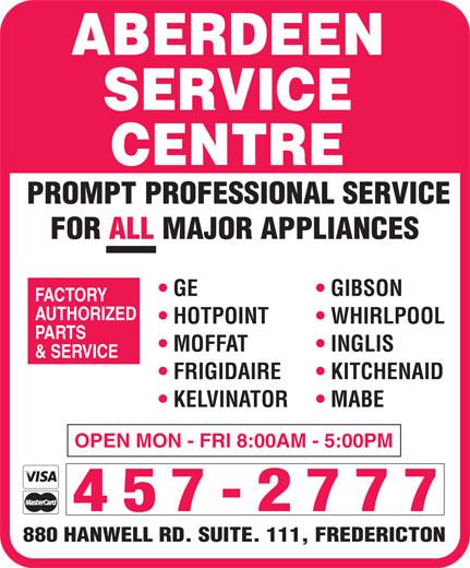 Aberdeen Service Centre (506-457-2777) - Annonce illustrée======= -