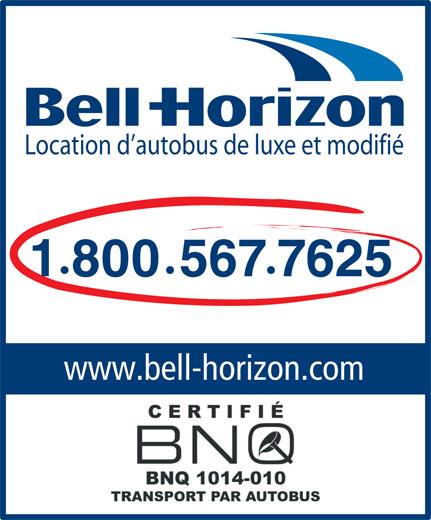 Autobus Bell-Horizon Inc (1-800-567-7625) - Annonce illustrée======= - Location d autobus de luxe et modifié 18005677625 · · www.bell-horizon.com