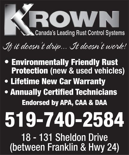 Krown Rust Control (519-740-2584) - Display Ad -