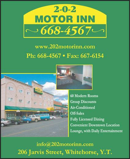 202 Motor Inn (867-668-4567) - Annonce illustrée======= -