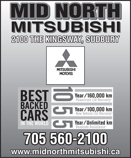 Mid North Mitsubishi (705-560-2100) - Display Ad -