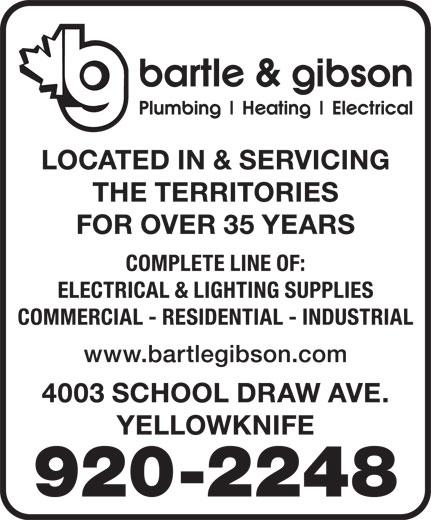 Bartle & Gibson (867-920-2248) - Display Ad -