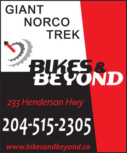 Bikes & Beyond (204-669-5590) - Display Ad - 204-515-2305