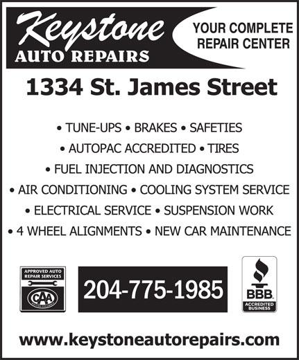Keystone Auto Repairs (204-775-1985) - Display Ad - 204-775-1985 204-775-1985