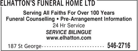 Ads Elhatton's Funeral Home Ltd