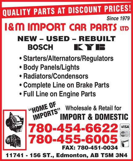 Ads I&M Import Car Parts Ltd