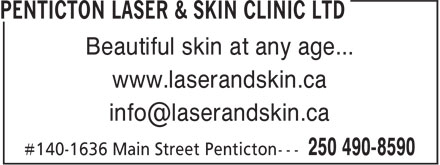 Ads Penticton Laser & Skin Clinic Ltd