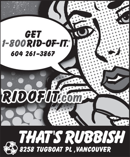 That's Rubbish (604-261-3867) - Display Ad -