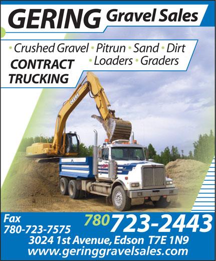 Ads Gering Gravel Sales