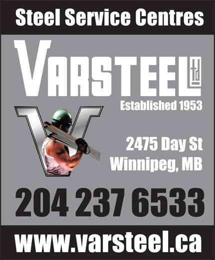 Varsteel Ltd (204-237-6533) - Annonce illustrée======= -