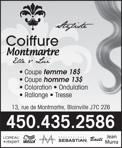 Coiffure montmartre 13 rue de montmartre blainville qc for Salon de coiffure blainville