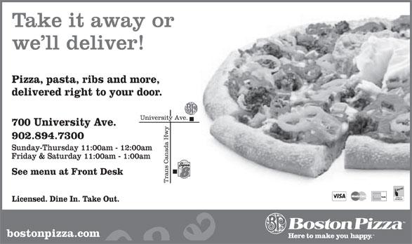 Boston Pizza (902-894-7300) - Annonce illustrée======= -