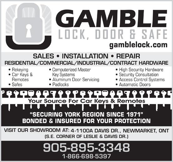 Ads Gamble Lock Door & Safe Inc