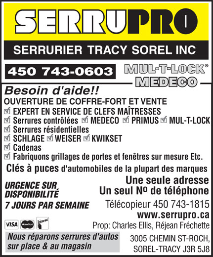 Serrurier sorel tracy 3005 ch saint roch sorel tracy qc for Porte fenetre boulet sorel tracy