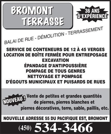Bromont Terrasse (450-534-3466) - Display Ad -