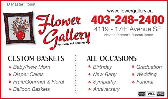 Flower Gallery (403-248-2400) - Annonce illustrée======= -