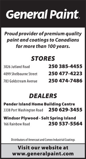 General Paint (250-385-4455) - Display Ad -
