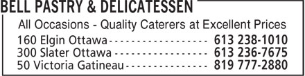 Bell Pastry & Delicatessen (613-238-1010) - Annonce illustrée======= - All Occasions - Quality Caterers at Excellent Prices All Occasions - Quality Caterers at Excellent Prices